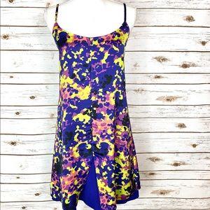 TOPSHOP Blue Floral Patterned Midi Sun Dress Sz.10